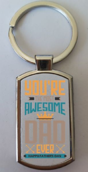 Father's Day Metal Rectangle Key Ring Design 4